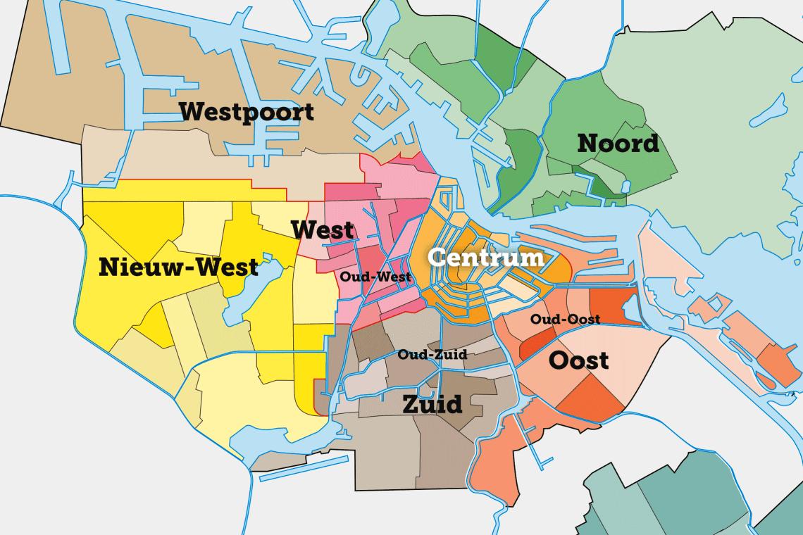 Amsterdams olika stadsdelar