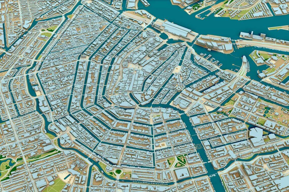 3D Karta Amsterdam